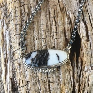Marcella James White Buffalo & Sterling  Necklace